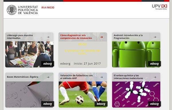 Cursos gratuitos de la universidad polit cnica de valencia for Universidad de valencia online