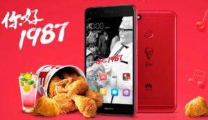Huawei KFC edición limitada monta el pollo con el Huawei Enjoy 7 Plus
