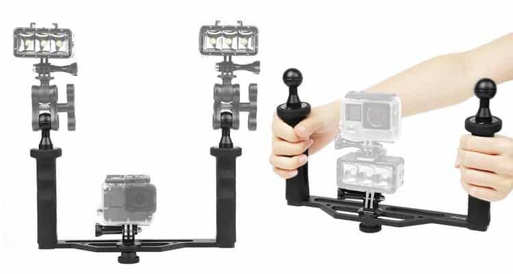 Soporte de buceo para Gopro y cámaras Réflex - Accesorios de buceo para cámaras GoPro y otras cámaras deportivas