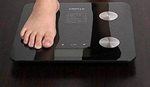 Báscula digital de grasa corporal compatible con iOs y Android 28% descuento