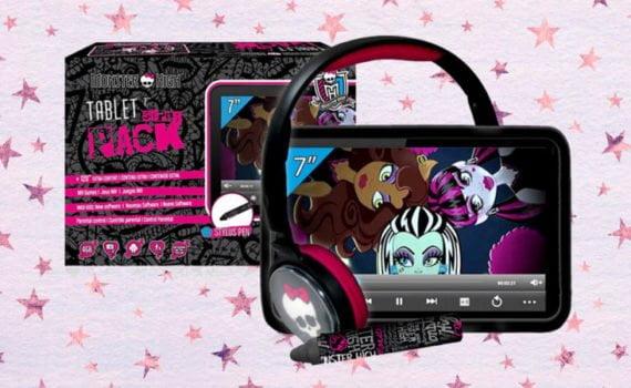 Tablet Monster High superpack con funda, auriculares y lápiz digital