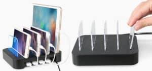 Cargador Multiple USB ELEGIANT para 5 móviles o tablets