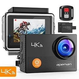 Descubre la Action Cam 4K APEMAN con accesorios