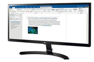 Super monitor LG UltraWide de 29 Pulgadas 22% descuento