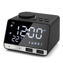 Radio despertador con 2 puertos USB
