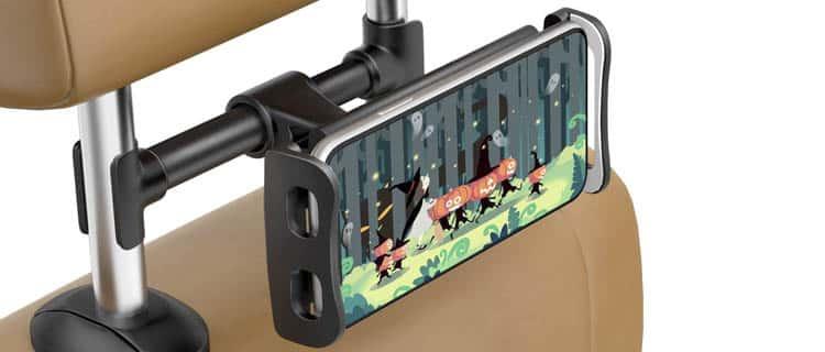 Soporte extensible para tablet para el cabezal de coche o vehículo. Ideas para regalar a usuarios de Android por menos de 25€