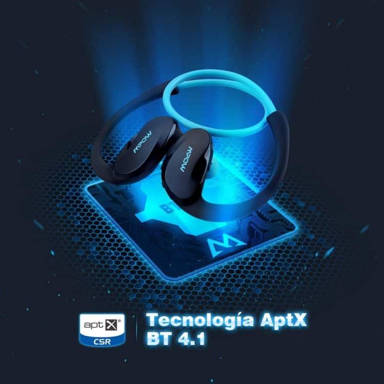 Auriculares deportivos Mpow con Bluetooth 4.1 con 27% de descuento
