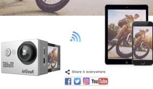 Cámara deportiva con Wi-fi y vídeo full HD barata