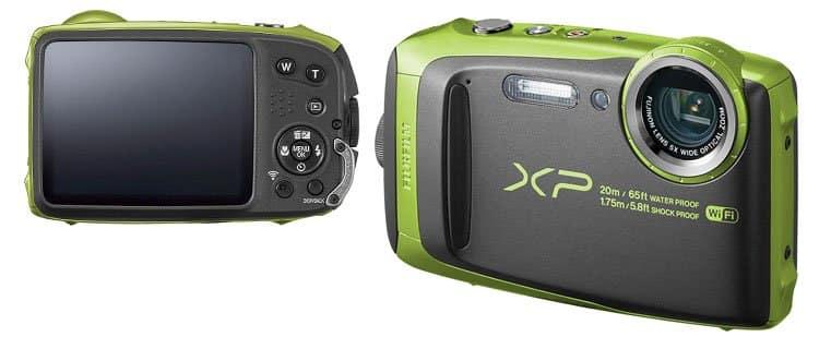 Cámara de fotos sumergible Fujifilm Finepix XP120. Mejor cámara de fotos acuática barata y otros modelos sumergibles