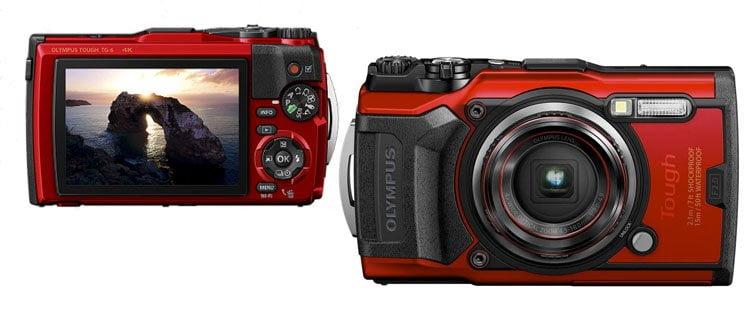 Cámara de fotos sumergible Olympus Tough TG-6. Mejor cámara de fotos acuática barata y otros modelos sumergibles