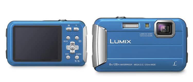Cámara de fotos sumergible Panasonic Lumix DMC-FT30. Mejor cámara de fotos acuática barata y otros modelos sumergibles