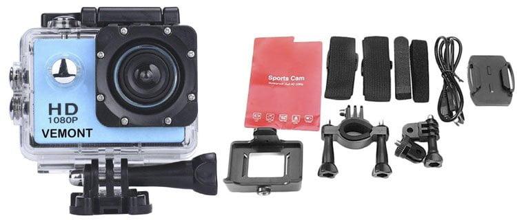 YMHX Vemont Cámara Deportiva. Mejor cámara de fotos acuática barata y otros modelos sumergibles
