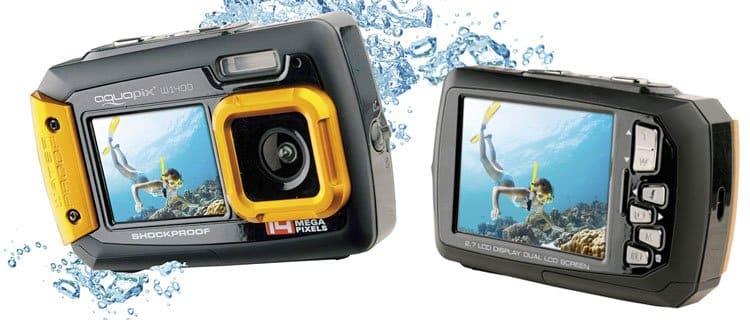cámara Easypix W1400 Active. Mejor cámara de fotos acuática barata y otros modelos sumergibles
