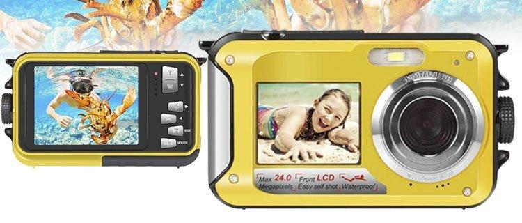 cámara sumergible barata de 24MP. Mejor cámara de fotos acuática barata y otros modelos sumergibles