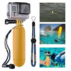 flotador para cámara de fotos o cámara de acción.Mejor cámara de fotos acuática barata y otros modelos sumergibles