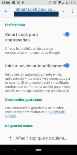 smartlock: Cómo ver tus contraseñas guardadas en tu móvil Android