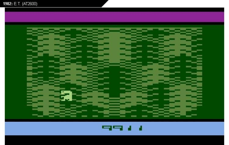 ET Atari en el bosque. Los peores videojuegos de la historia reciente y no tan reciente