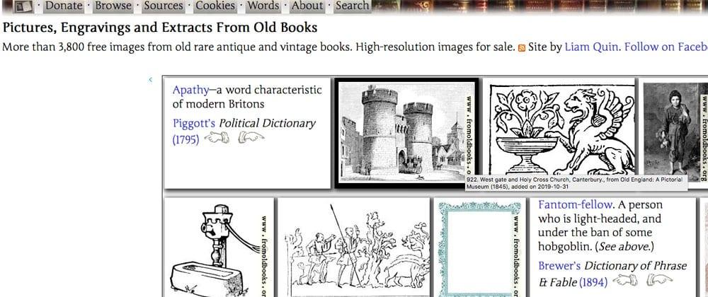 old books web ¿Donde puedo conseguir imágenes gratis y libres de derechos?