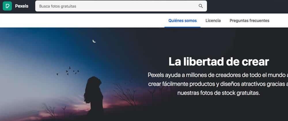 Pexels ¿Donde puedo conseguir imágenes gratis y libres de derechos?