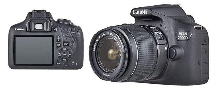 canon eos 2000d Mejor cámara réflex para principiantes (actualizado)