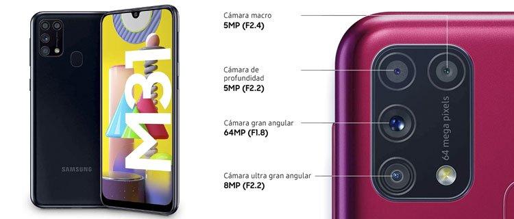 samsung galaxy m31 - Mejor smartphone por menos de 250€