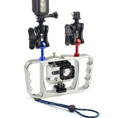 Aoblaze Estabilizador para réflex de Jaula Subacuática. Accesorios de buceo para cámaras GoPro y otras cámaras deportivas