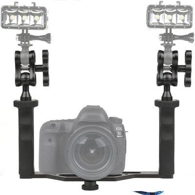 Estabilizador cámara réflex. Accesorios de buceo para cámaras GoPro y otras cámaras deportivas