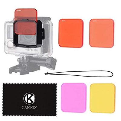 filtros y gopro y funda - Accesorios de buceo para cámaras GoPro y otras cámaras deportivas
