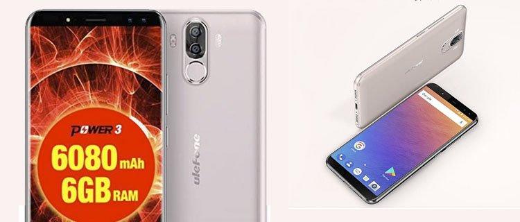Smartphone Ulefone power 3. Móvil Android con mejor batería y más duradera a la venta