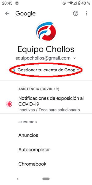Gestor de contraseñas en Chrome ajustes en Android Cómo ver tus contraseñas guardadas en tu móvil Android