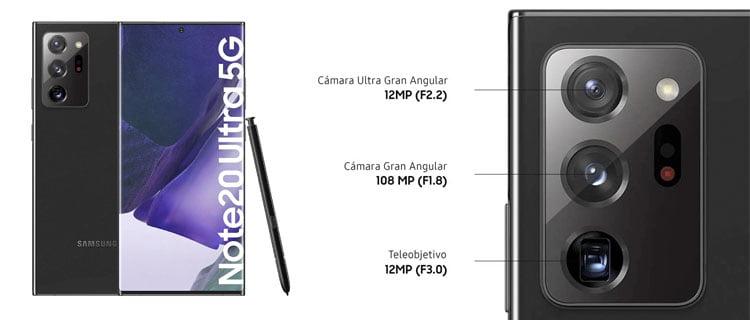 Smartphone samsung galaxy note20 ultra 5g Mejores móviles a la venta