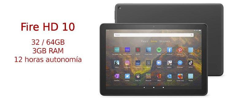 Tablet Amazon Fire HD 10 calidad precio
