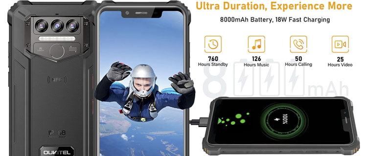 OUKITEL WP9 teléfono pequeño con IP68